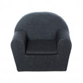 Peuterstoeltje/Kinderfauteuil Denim Antraciet
